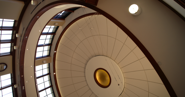 Hope College Martha Miller Center - rotunda ceiling