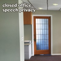 Closed Office Acoustics and Privacy Concerns