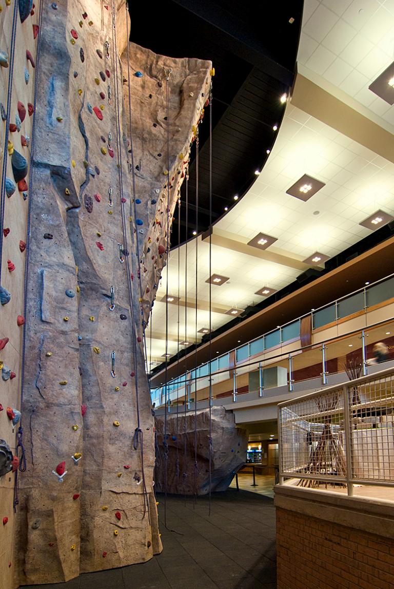 Calvin College Spoelhof Climbing Wall
