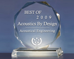 Acoustics By Design Receives Best of Award for Acoustical Engineering