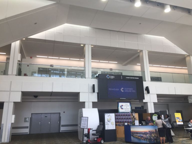 Cobo concourse screen