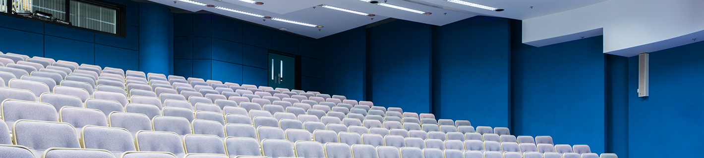 Lecture hall design with acoustical modeling