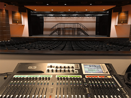Auditoria technical AV soundboard