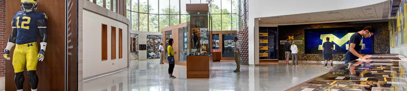 University of Michigan, Schembechler Hall interior common area