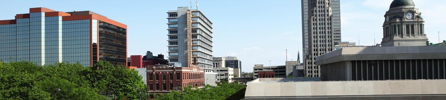 Fort Wayne Indiana Cityscape