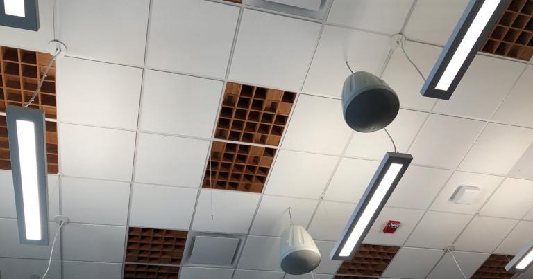 GVSU Haas PAC ceiling