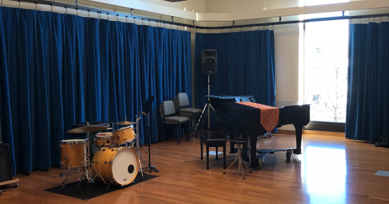GVSU Haas PAC Piano and Drums
