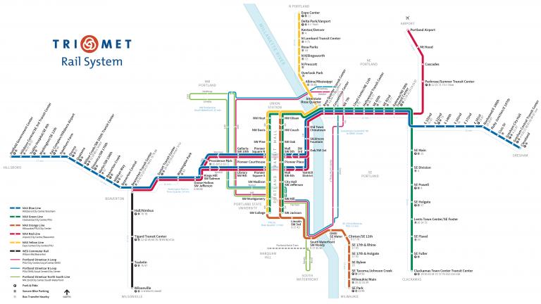 TriMet map