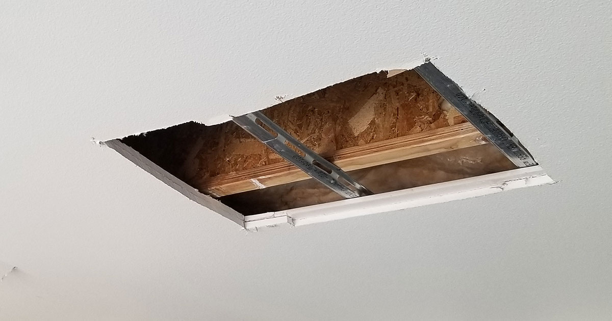 Resilient Channel - cutaway ceiling