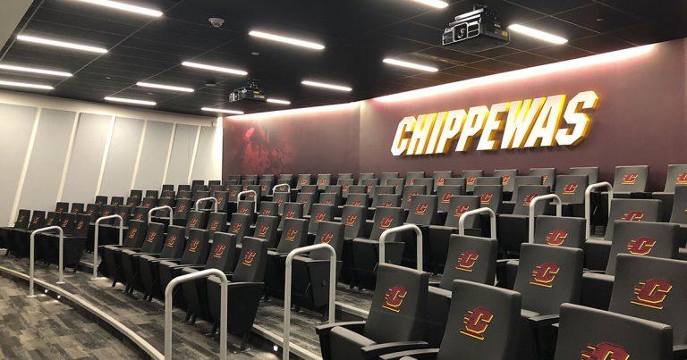 Chippewa Champions Alumni Center at Kelly Shorts Stadium - auditorium