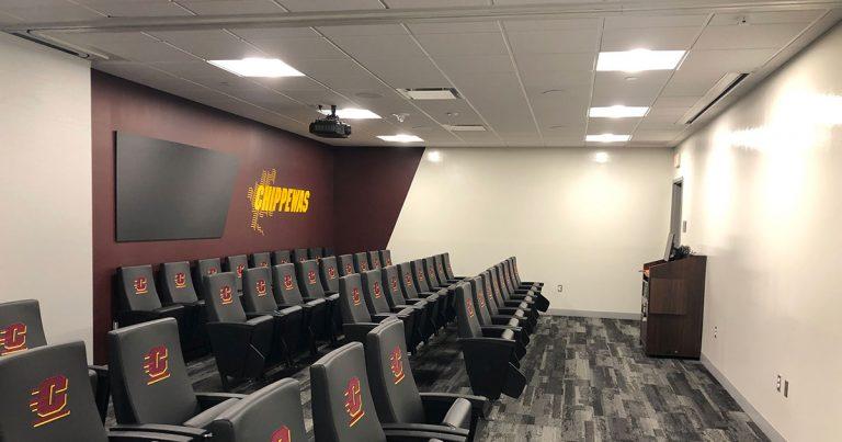 Chippewa Champions Alumni Center at Kelly Shorts Stadium - divided meeting room