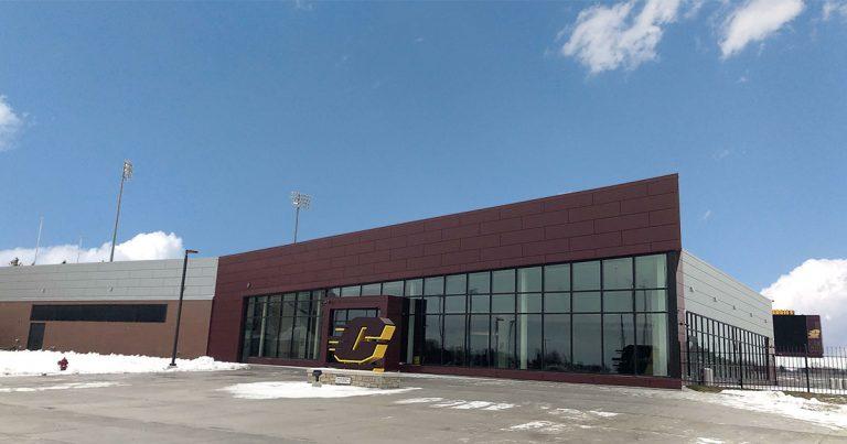 Chippewa Champions Alumni Center at Kelly Shorts Stadium - exterior
