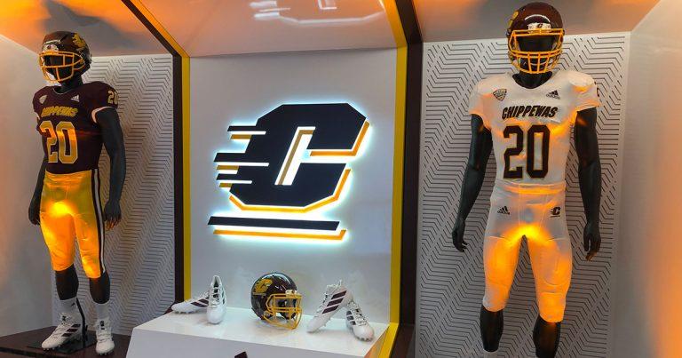 Chippewa Champions Alumni Center at Kelly Shorts Stadium - Uniforms