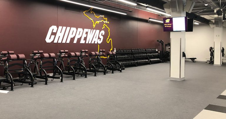 Chippewa Champions Alumni Center at Kelly Shorts Stadium - Weight Room