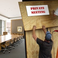 Boarding up the board room